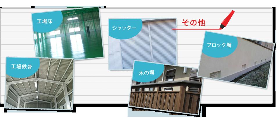 その他(工場床 店舗看板 木の塀 シャッター 外構など)